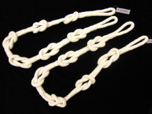 2 Shanklin knotted rope curtain tiebacks Natural cream cotton 86cm ties tie back